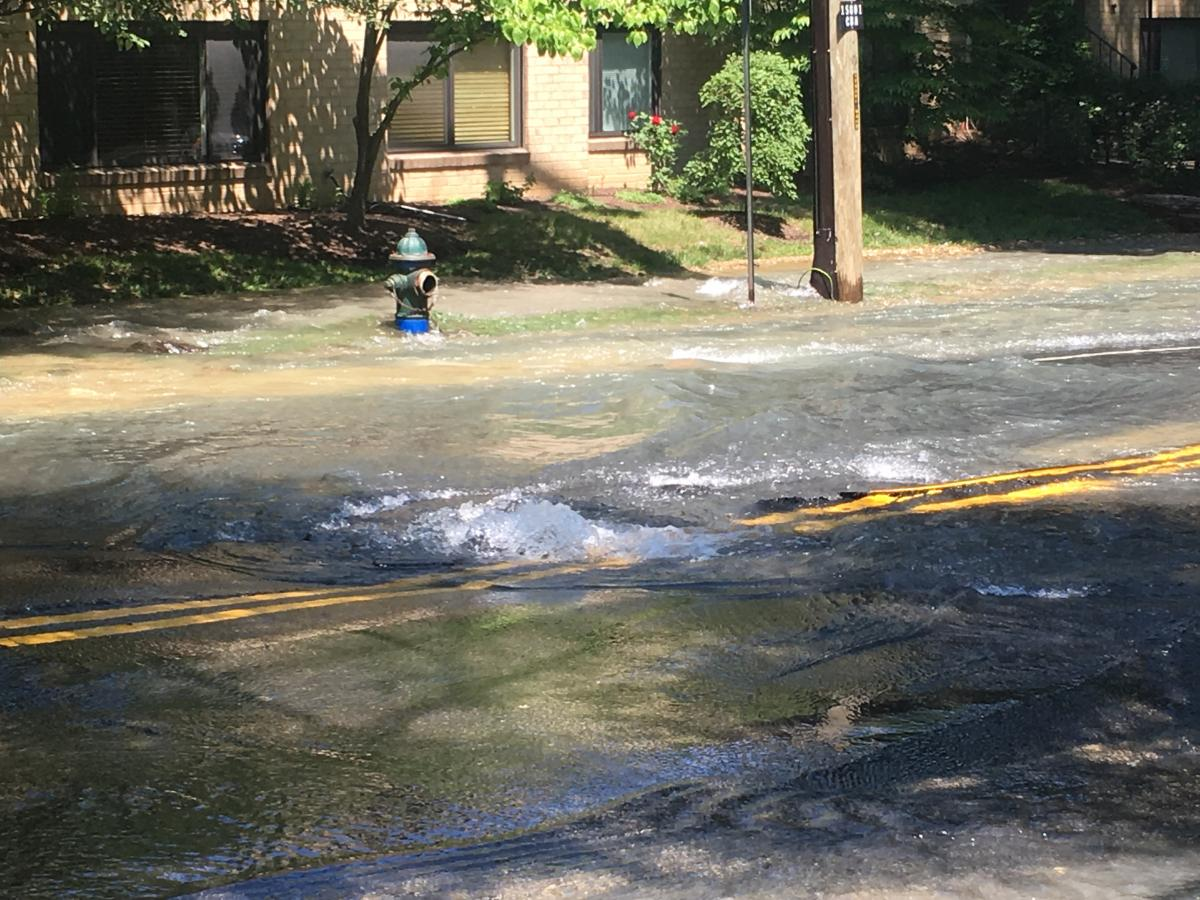 File photo of water main break
