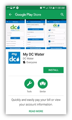 My DC Water Mobile App | DCWater com