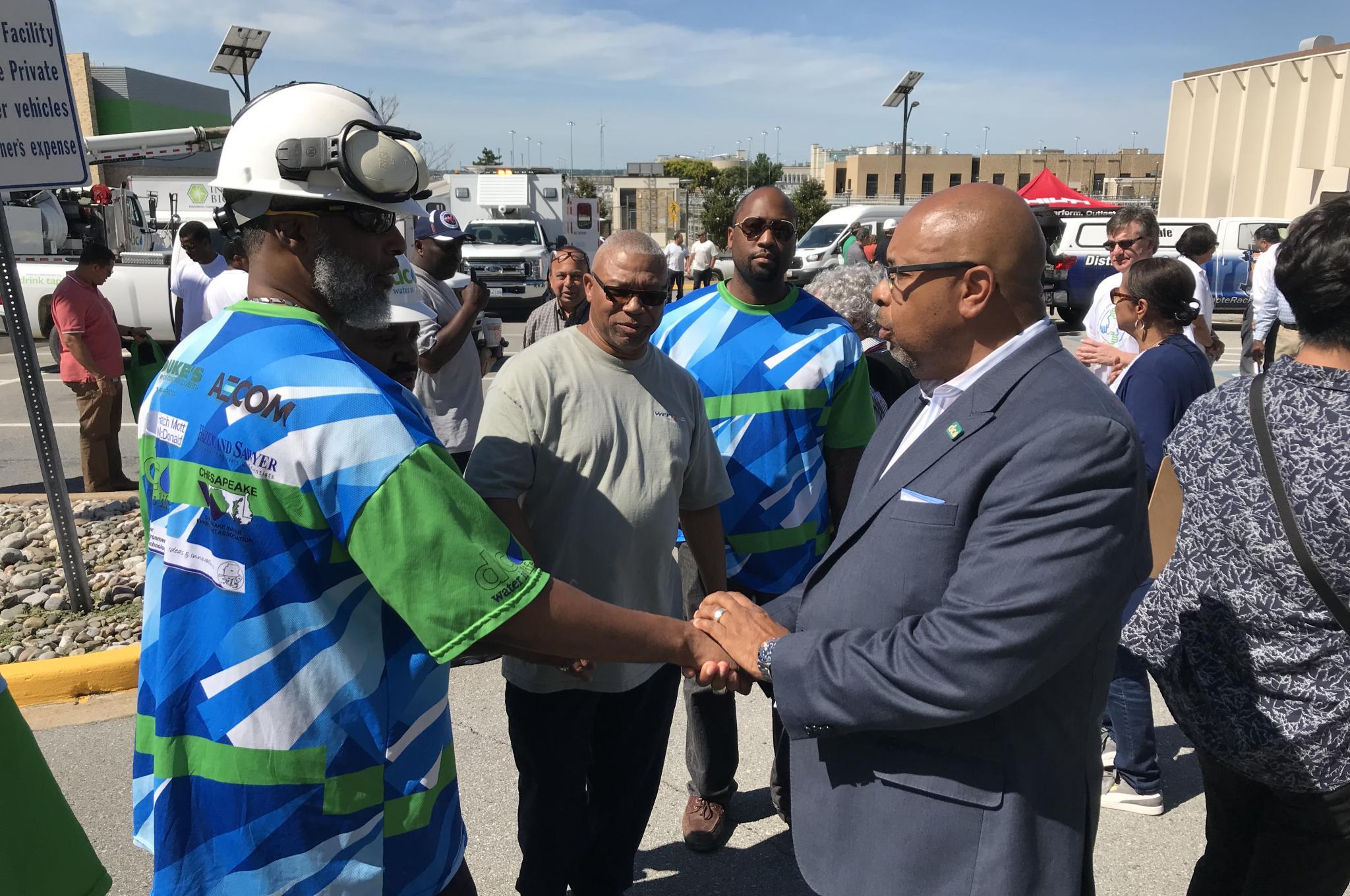David Gadis meets DC Water employees