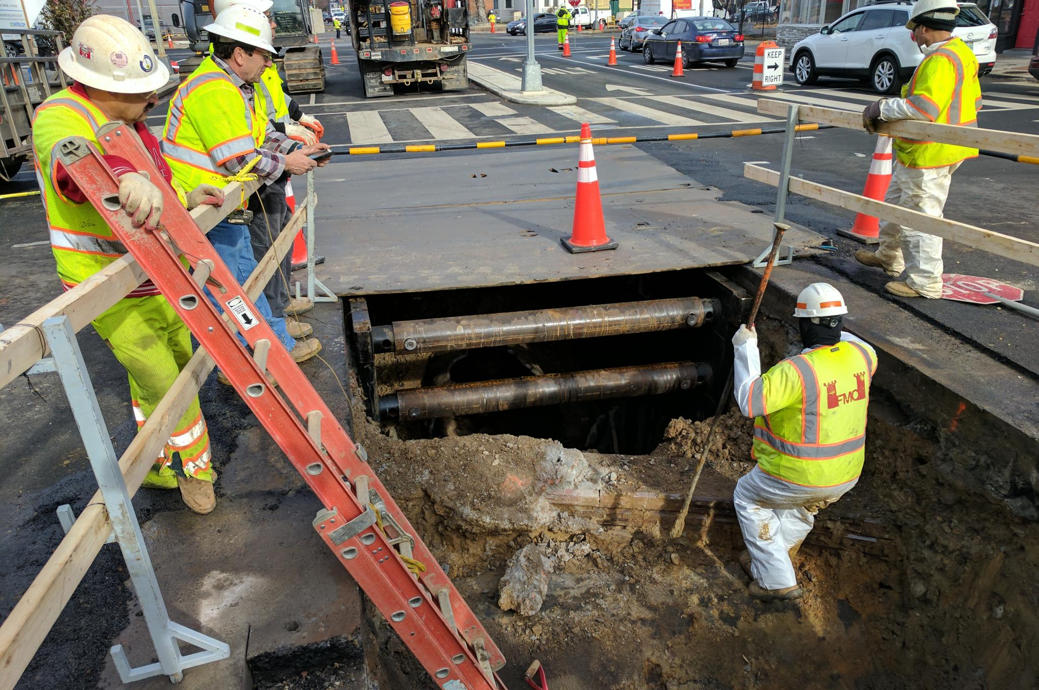 Watermain Replacement on 6th and R Streets NW