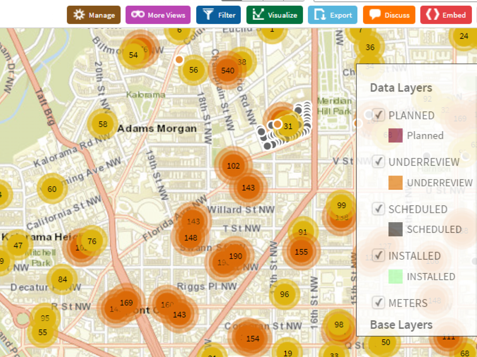 Screen shot from Open Data Portal