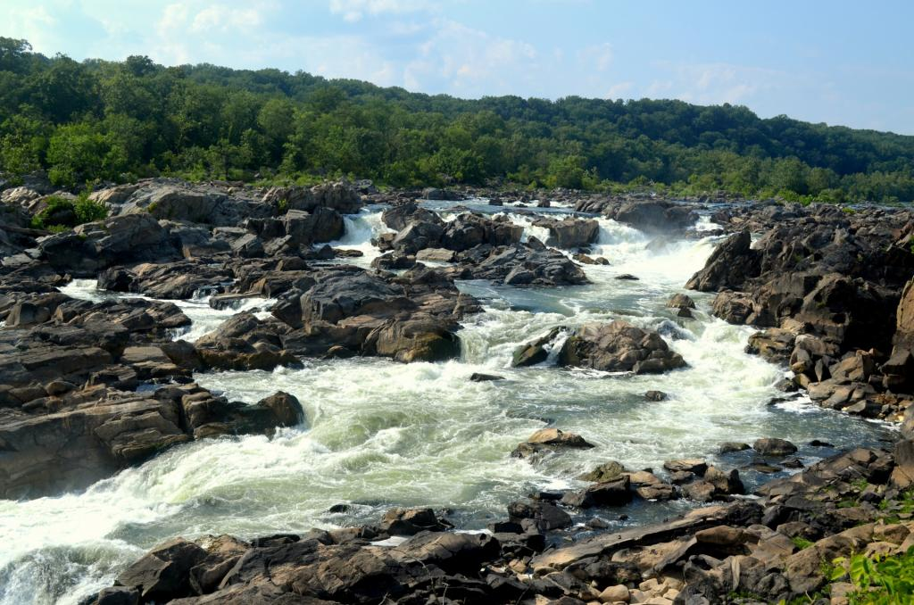 Shot of Great Falls in the Potomac River, the source of our region's drinking water.